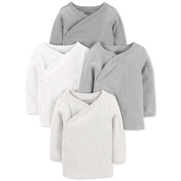 Carter's Baby Boys or Girls 4-Pack Side-Snap Cotton Tops