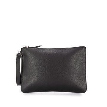 logo-plaque clutch bag