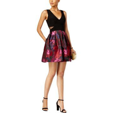 Xscape Womens Cocktail Dress Printed Fit & Flare