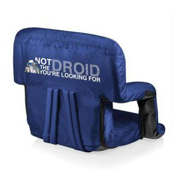 Picnic Time Canvas Adjustable Chair in Navy