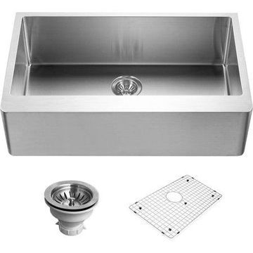 Houzer ENG-3320 Epicure Series Apron Front Gourmet Single Bowl Kitchen Sink