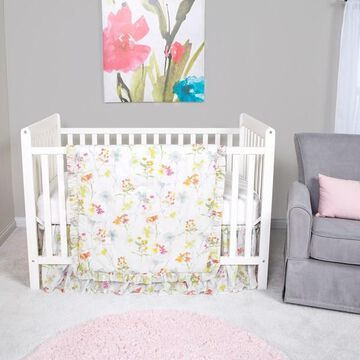 Trend Lab Wildflowers 3 Piece Crib Bedding Set