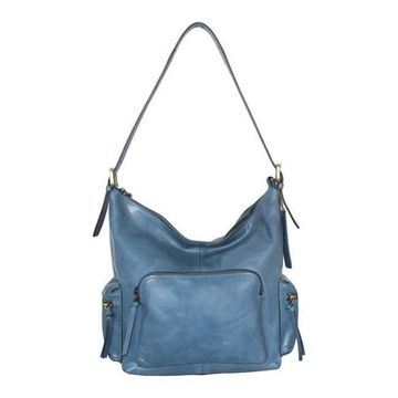 Nino Bossi Women's Willa Leather Shoulder Bag Blue - US Women's One Size (Size None)