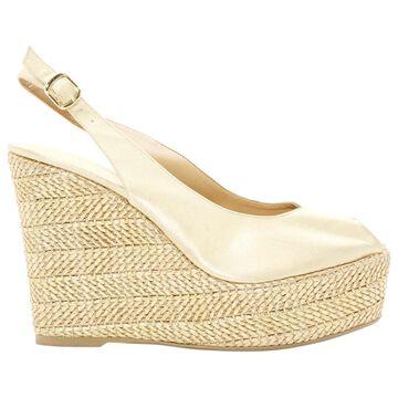 Castaner Gold Cloth Sandals