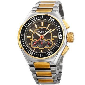 Akribos XXIV Men's Quartz Chronograph Two-Tone Bracelet Watch (Two-tone)