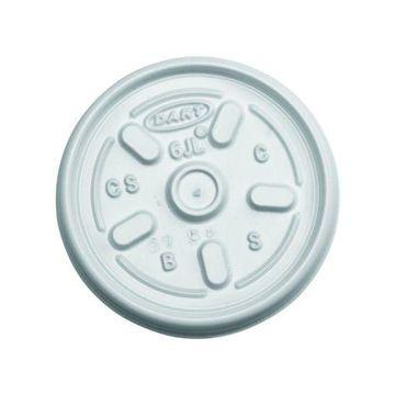 Dart 6JL White Vented Lid - 6 Series (Case of 1000)