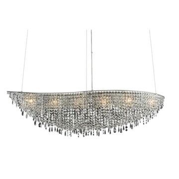 Allegri 029060010FR001 Six Light Isl Pendant Voltare Chrome - One Size (One Size - Clear)