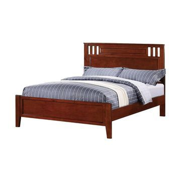 Fascinating Bed Wooden Finish - Benzara