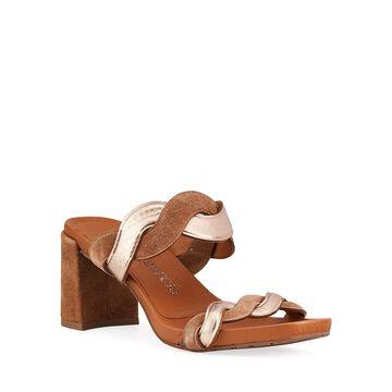 Cait 75mm Bicolor Slide Sandals