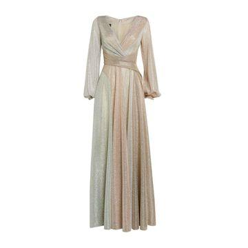 Talbot Runhof Metallic-Flecked Cordula Gown