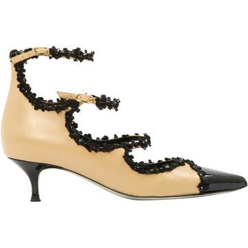 Rene Caovilla Black Leather Heels