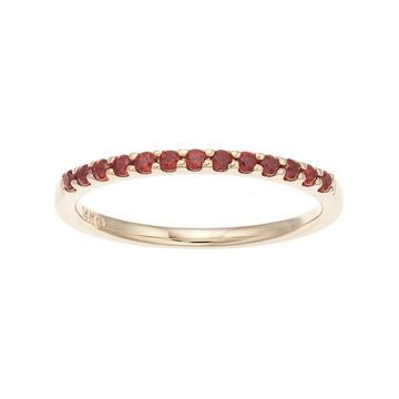 Boston Bay Diamonds 14k Gold Garnet Stack Ring