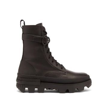 Moncler - Carinne Lace-up Leather Boots - Womens - Black