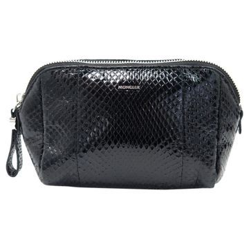Moncler Black Water snake Clutch Bag