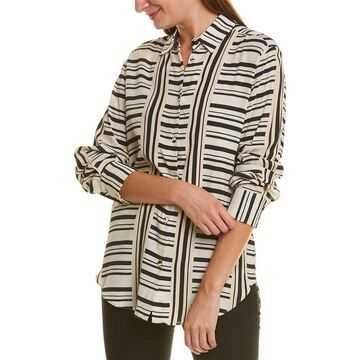 Piazza Sempione Striped Blouse
