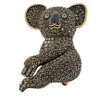 Heidi Daus King Koala Crystal Pin