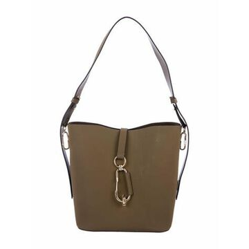 Leather Bucket Bag Gold