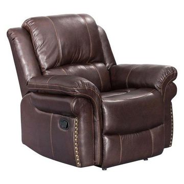 Sunset Trading Glorious Recliner in Regal Brown