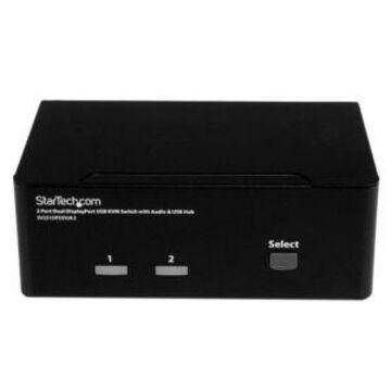 StarTech.com 2-Port DisplayPort KVM Switch - 2x DisplayPort Inputs 3.5