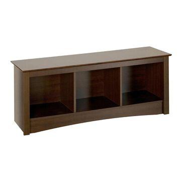 Prepac Fremont Casual Espresso Storage Bench in Brown   ESC-4820