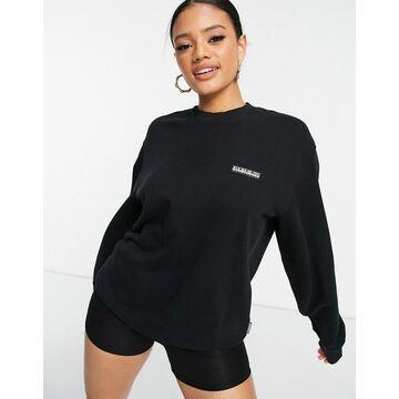 Napapijri Patch sweatshirt in black
