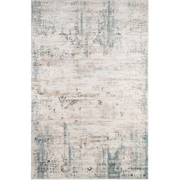 Momeni Juliet 7 x 9 Ivory Distressed/Overdyed Vintage Area Rug in Off-White   JULIEJU-01IVY7696