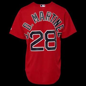 Majestic MLB Cool Base Player Jersey - Boston Red Sox, Size One Size