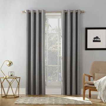 Sun Zero Baxter Home Theater Grade Extreme 100% Blackout Curtain Panel
