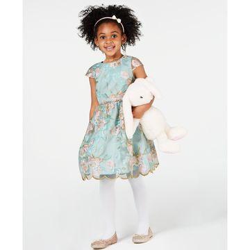 Toddler Girls Floral Embroidered Dress