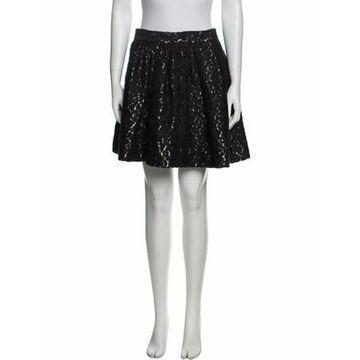 Printed Mini Skirt Black