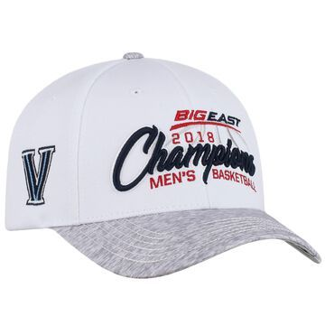 Villanova Wildcats Top of the World 2018 Big East Men's Basketball Conference Tournament Champions Locker Room Adjustable Hat - White