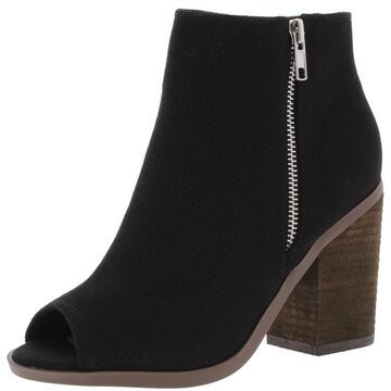 Call It Spring Womens METAPONTO Faux Suede Perforated Booties