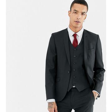 Heart & Dagger skinny suit jacket-Black