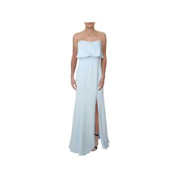 XSCAPE Ivory Sleeveless Full-Length Dress 8