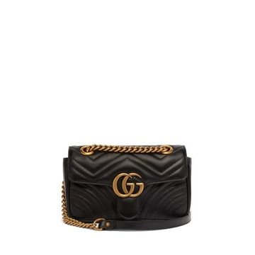 Gucci - Gg Marmont Mini Quilted-leather Cross-body Bag - Womens - Black
