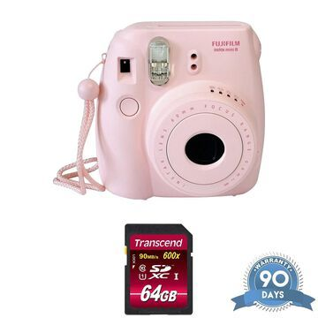 FUJIFILM Mini 9 Instant Film Camera (Flamingo Pink) - w/ Memory Card -