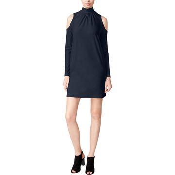 Kensie Womens Party Dress Mock Neck Jersey