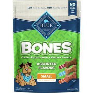 Blue Buffalo Bones Classic Assorted Flavors Small Dog Treats, 16-oz bag