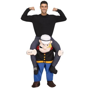 Fun World Carry Me Popeye Adult Costume-Standard