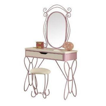 Acme Furniture Vanity Set White Purple