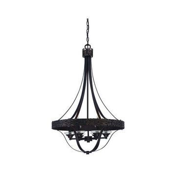 Jeremiah Lighting 36336-ABZG Aged Bronze / Gold Amsden 6-Light Foyer Pendant
