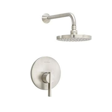 American Standard T430.501 Berwick Shower Trim Package with Single Function Rain Satin Nickel Faucet Shower Only Single Handle