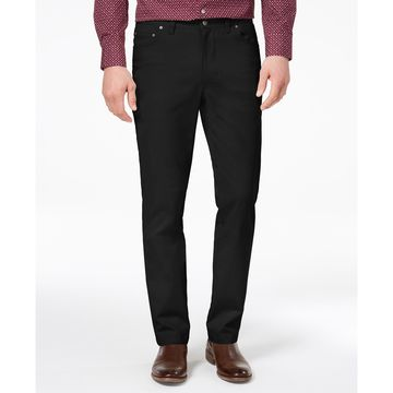 Men's Straight-Fit Stretch Pants, Created for Macy's