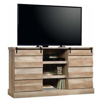 Pemberly Row TV Stand in Lintel Oak
