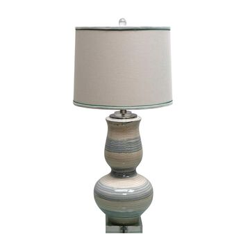 Jeco Ceramic Table Lamp with Crystal Base