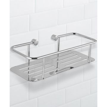 General Hotel Chrome Wall-Mounted Shower Basket