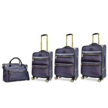 Adrienne Vittadini Two-Tone Nylon 4-Piece Luggage Set