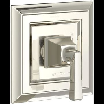American Standard T455.500 Town Square S Single Function Pressure Balanced Valve Polished Nickel Showers Valve Trim Only Pressure Balanced