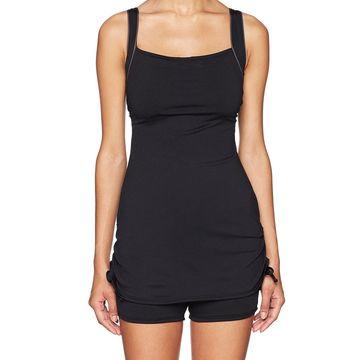 TYR Womens Swimsuit Black Size 8 One-Piece Squareneck Durafast-Elite