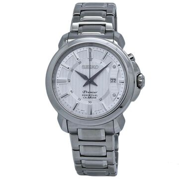 Seiko Men's SNQ155 Premier Stainless Steel Watch